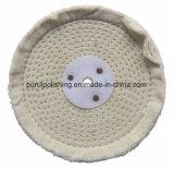 Roue de polissage de polissage de coton blanc de point pour le métal