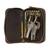 Дешевые цены хороший подарок для продвижения малого размера Crazy Horse коричневого цвета кожи ключи Wallet