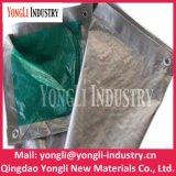 2mx4m verde de alta qualidade resistente a prata PE oleados