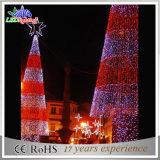 Luz gigante ao ar livre da decoração do Natal do motivo da árvore de Natal 3D