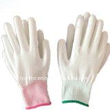 Красочные PU покрытием 13 указатели нейлоновые рабочие перчатки