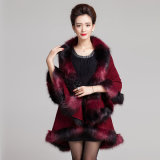 Woman Fashion Space Dyed Faux Fur Inverno Knitted Shawl (YKY4472)