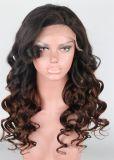 100% capelli umani del Virgin, capelli naturali del brasiliano dell'onda