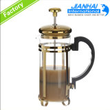 De Chinese Hittebestendige Pot van de Koffie van het Glas met Roestvrij staal