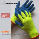Gants fonctionnants de sûreté de latex en nylon de pli de polyester des mesures K-127 13