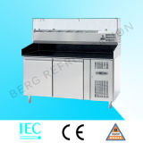 acero inoxidable Commercial Sandwich Prep Table Chiller contador