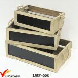 Casella di legno dell'azienda agricola dell'annata della vernice della lavagna senza coperchio