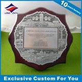Trophée de plaque en bronze d'argent d'or de police de récompense en métal