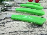4PCS Reeks van het Bestek van het Roestvrij staal van het Handvat van het bestek de Vastgestelde Plastic