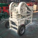 Triturador de maxila de pedra móvel pequeno com motor Diesel