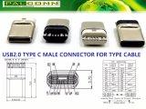 USB2.0 de Mannelijke Schakelaar van het type C, Geen PCB, Betere kwaliteit! De productiviteit is Hoog! Het Product van het octrooi. Won de Voortreffelijkheid & de Innovatie Awar van de Productie