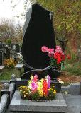 Lápida mortuoria/piedra sepulcral/monumento cruzados de Rusia Shanxi del granito negro absoluto de China para el sepulcro