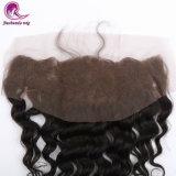 Frontal 100% del merletto del Brown della parte dei capelli del Virgin con i capelli del bambino