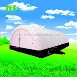 Aufblasbares riesiges orange Haus-Form-Festzelt-Zelt für das Kampieren