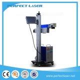 Type de levage machine d'inscription de laser de vol pour les bouteilles ou la chaîne de production