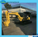 1トン0.02m3のバケツ容量の小型掘削機