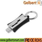 O melhor logotipo de Whith da movimentação da pena do USB do metal do preço para a promoção