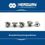 歯科矯正学のアクセサリ、セリウムが付いている円形の曲げられたLingualボタン
