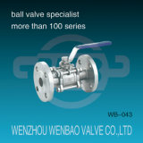 3-Piece CF8m Flanged Ball Valve with Manual Handle
