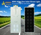 Los proyectos del gobierno todo-en-Uno LED integrado calle la luz solar para Colombia, Ecuador, la India, Nigeria, Kenya Argentina Chile Ghana Lámpara de iluminación del jardín al aire libre