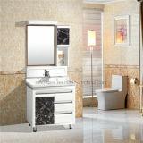 Шкаф ванной комнаты PVC, керамический тазик, зеркало 5mm серебряное