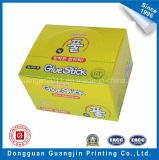 Gelbe Farbe gedruckter Kunstdruckpapier-faltbarer verpackenkasten
