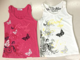 T-shirt sem mangas Vest for Girl in Fashion Kids Clothes (SV-021-029)