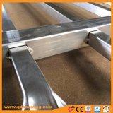 Superiore di alluminio del germoglio perforato con la recinzione di sicurezza di obbligazione
