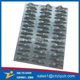 Las placas de conector metálico de acero galvanizado