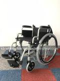 Manual de acero plegable, silla de ruedas portátil