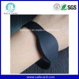 Bracelets réutilisables d'IDENTIFICATION RF de silicones de logo fait sur commande imperméable à l'eau