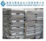 高い純度の工場供給亜鉛インゴット99.995%