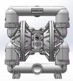 """3 de """" Grote Pomp van het Diafragma van het Aluminium van de Stroom Pneumatische Dubbele"""