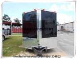 Carro móvil Re-Enforced vidrio del alimento del acoplado del alimento de la alta calidad del panel para la venta