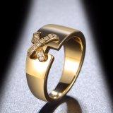 Juwelen van Custome van de Ring van de Vinger Zircon van de manier de Goud Geplateerde