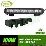 LEIDENE van de 17inch100W CREE Enige Rij Lichte Staaf voor Vrachtwagen