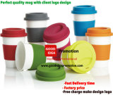 Alta qualità Popular Design Ceramic Coffee Mug con Silicone Lid