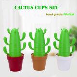 De Biologisch afbreekbare Composteerbare Koppen van de Cactus PLA Geplaatst Mok Artistieke Producten