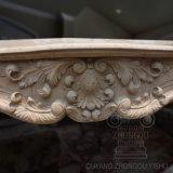Scultura di marmo classica del camino Mano-Intagliata reticolo semplice caldo di vendita
