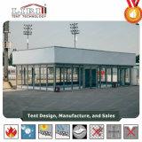 Tienda de aluminio horizontal con la albañilería de cristal para el acontecimiento al aire libre