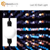 Lumière de la bille 3D de la lumière DMX512 RVB 50mm de chaîne de caractères de bille de DEL
