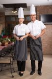 Unisex поли одежды Wok шеф-поваров штата гостиницы трактира хлопка с рисбермой
