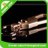 Trousseau de clés spécial en métal de promotion avec le logo découpé (SLF-MK010)