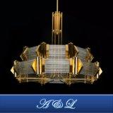 Lâmpada lustre de cristal de aço inoxidável para o átrio do Hotel