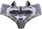 Nuova stampa animale di disegno 3D per la signora Sexy Panties con le orecchie