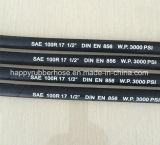 3000psi SAE 100R17 simple ou double tresse métallique en acier renforcé le flexible hydraulique