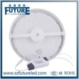 3W-24W se dirigen/la luz del panel redonda de la iluminación comercial LED