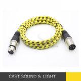 Signal audio câble DMX avec connecteur XLR 3 broches pour microphone
