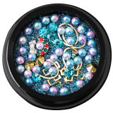 La decorazione Mixed delle gemme della signora Fashion Nails 3D di bellezza borda il Rhinestone delle decalcomanie del chiodo dell'autoadesivo del metallo