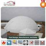 白い屋外の測地線ドームのテント、広告のための半分のドームのテント